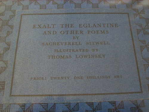 Image for Exalt The Eglantine and other poems. Decorated by Thomas Lowinsky.