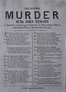 Image for The Horrid Murder of Mr John Wincott a Butcher, carrying on business in Whitechapel Road, and South Street, Manchester Square [London].